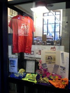 Check out our Biking with Beanzie Display in the Jacob Haish, DeKalb Public Library Window Display 309 Oak St, DeKalb, IL 60115. http://dkpl.org/virtual-local-history/