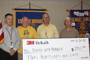 3M Donation to Beanzie: John Pruitt 3M, Bill Finucane, Mike 3M, Toney Xidis