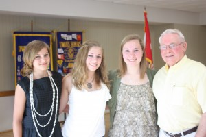 4-H Speaker Contest Winners from June 13, 2012- Anna McComb, Justene Jennings, Jaylene Jennings, Jack Goodrich. The contest is sponsored by the Kishwaukee Kiwanis as a part of the (George)Biggar Memorial.
