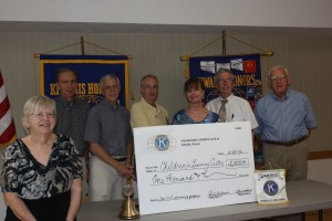 Donation to Childrens Learning Center CLC: Jan Byrnes, Tony Chulick, Nancy Teboda CLC, Ken Rodd CLC, Mike Mooney, Pete Lawes